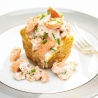 Baked Potato with Salmon and Chive Mayo Filling