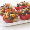 Roasted Peppers with Spiced Beans and Goat Cheese