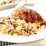 Cajun Chicken with Mixed Bean, Pineapple and Thyme Rice