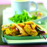 Chick pea and Flageolet Bean Patties with Citrus Relish