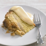 Cinnamon Apple and Pear Crumble Cake with Custard
