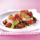 Cod on Lentil and Mushroom Ratatouille