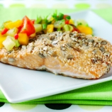 Salmon with Mango and Pineapple Salsa