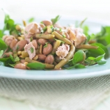 Borlotti Bean and Tuna Salad with Pine Nuts