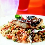 Vegetable Cous Cous with Seared Cod