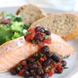 Barbecued Salmon & Black Bean Salsa