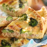 Salmon & Broccoli Quiche