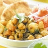 Vegetable and chick pea balti