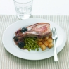 Pork Chops with Prunes, Garden Vegetables & Garlic Potatoes