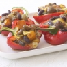 Roasted Peppers with Spiced Beans and Goat�s Cheese