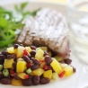 Tuna with Black Bean & Mango Salsa