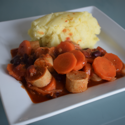 Sausage and mustard bean stew